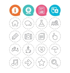 Universal icon speech bubble and first aid box vector