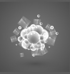 White bubbles in a group vector