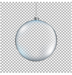xmas ball transparent background vector image vector image