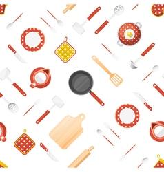 Kitchen utensils seamless pattern vector