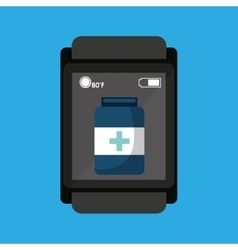 Smartwatch device health container vector