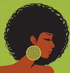 Profile silhouette african-american woman vector