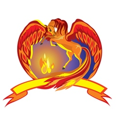 Pegasus with fire vector