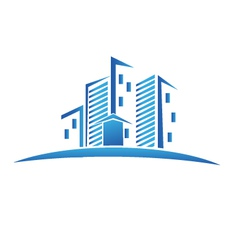 Buildings real estate logo vector