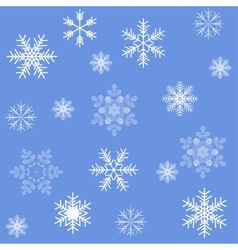Blue snowflakes seamless background pattern vector
