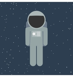 Spaceman in flat style vector