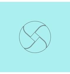 Loop icon vector