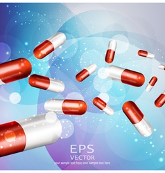 Background with capsules vector