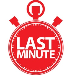 Last minute stopwatch icon vector