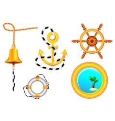 Nautical collection vector