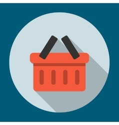 Basket Icon Flat vector image