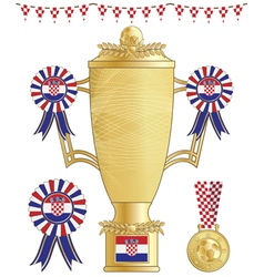Croatia football trophy vector
