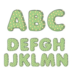Cactus alphabet from a to n vector