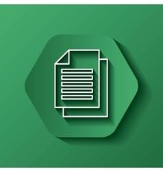 Document icon media design over hexagon vector