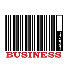 Barcode with business text and loading bar vector