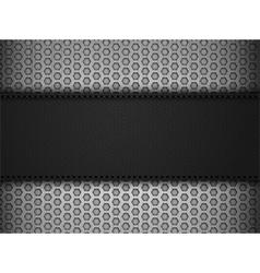 Black leather panel on black mesh landscape vector