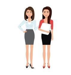 Businesswomen characters avatars isolated vector