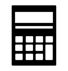 Calculator isolated icon over white background vector