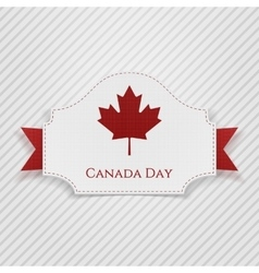Canada day holiday tag with ribbon vector