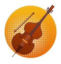 Cello icon violin music instruments vector