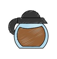 Coffee pot icon vector