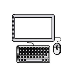 computer desktop technology icon vector image