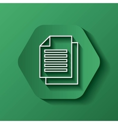 Document icon media design over hexagon vector