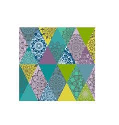 Flower color mandala pattern vector