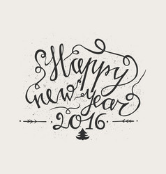 hand drawn typography poster happy holidays vector image vector image