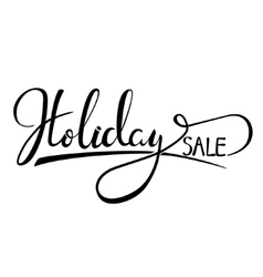 Holiday sale rubber stamp vector image