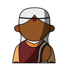 indian woman cartoon vector image