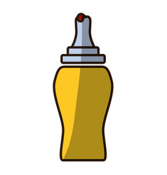 Ketchup plastic bottle vector