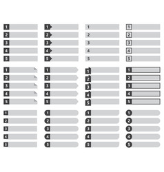numbered list template design vector image