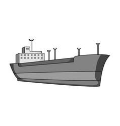 oil shipoil single icon in monochrome style vector image