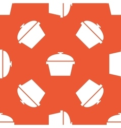 Orange pot pattern vector image