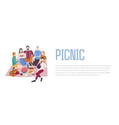 Picnic friends company vector