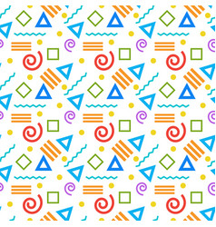 seamless pattern abstract geometric ornament style vector image vector image