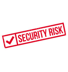 Security risk rubber stamp vector