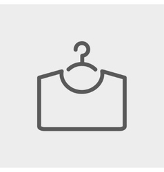 Shirt on hanger thin line icon vector image