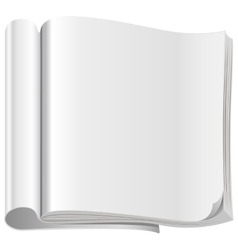 Template white open magazine vector