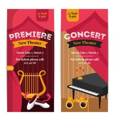 Theatre poster banners set vector