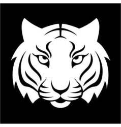 Tiger icon for logo design t-shirt print tiger vector