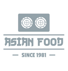 Traditional asian food logo simple gray style vector