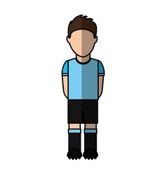uruguayan player soccer icon vector image