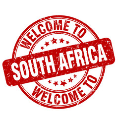 Welcome to south africa red round vintage stamp vector
