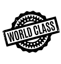 World class rubber stamp vector