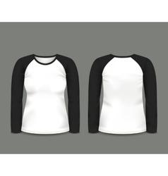 Black raglan sweatshirt long sleeve vector