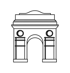 Triumph arch isolated icon vector