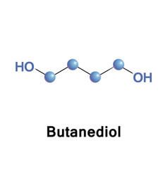 Butanediol organic compound vector