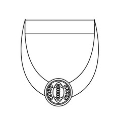 Isolated champion medal vector
